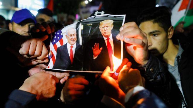 Jan. 2020 Trump Palestine (AFP)