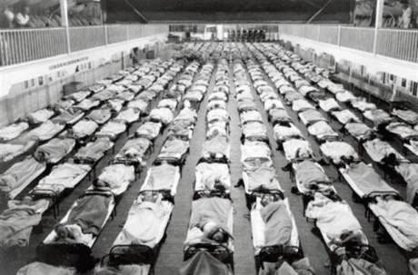 1918 flu beds