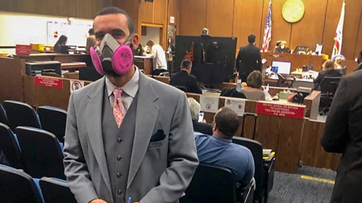 March 2020 Courtroom mask