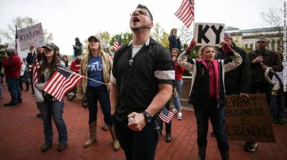 April 2020 Open up protests Ky. (CNN)