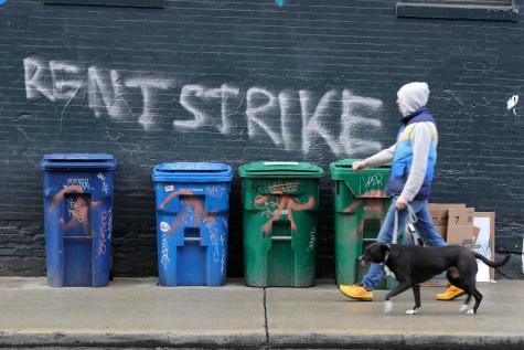 May 2020 rent strike (Ted S. Warren:AP)